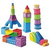 世界の建物ブロック再生Includingビッグベン、エッフェル塔、ピサの斜塔、Great Wall andシドニーオペラハウス
