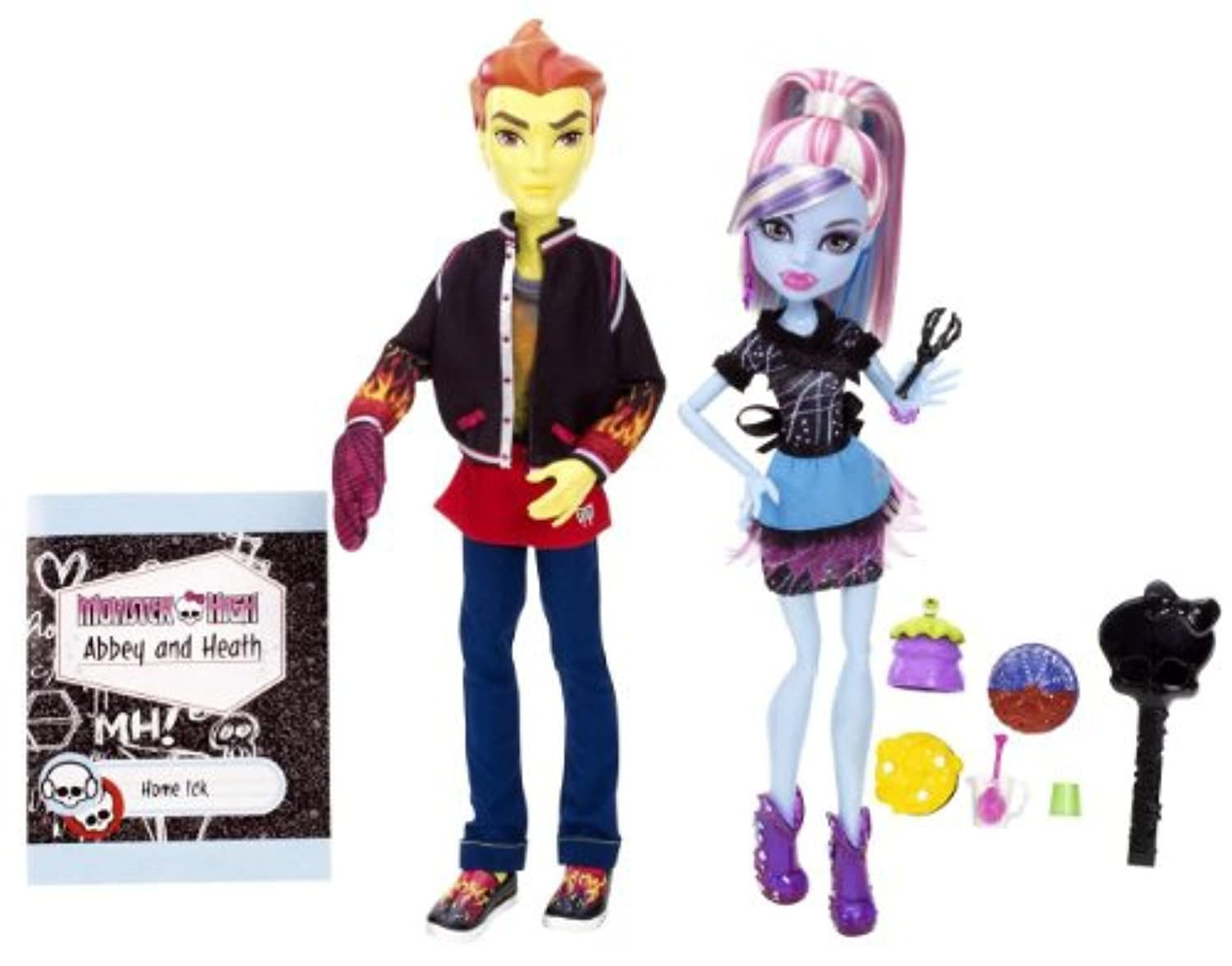 Monster High モンスターハイ Classroom Partners Home Ick Abbey Bominable and Heath Burns Doll, 2-Pack 人形 ドール 【並行輸入】