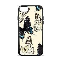 USAKI(ユサキ)iPhone7 ケース,レトロ 蝶 チョウ,防水ケース 防塵 防雪 耐衝撃カバ ー 落下防止 防指紋 超薄型、軽量TPU素材 ケース iPhone7 用 (4.7インチ)