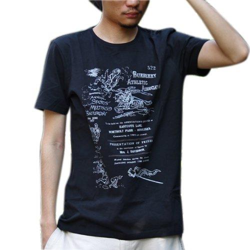 メンズ半袖プリントTシャツ クルーネック BBTS-M8 バーバリー ブリット