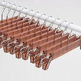 Mr。SIGAパンツHangers with 2クリップ、半透明ブラウン、12パック、横幅: 33cm