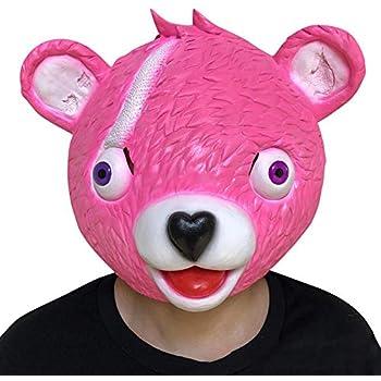 younicos ハロウィン pink Bear ピンク ゲームマスク マスク 仮面 ラテックスマスク パーティー グッズ 変装用マスク コスチューム用小物 コスプレ