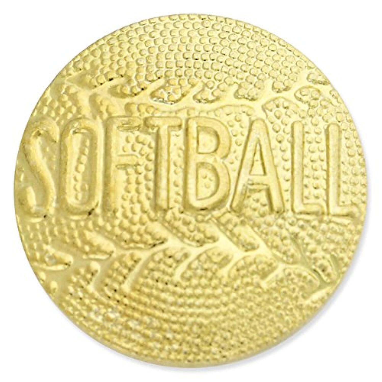 ソフトボールゴールドChenilleスポーツラペルピン 1