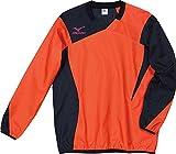 (ミズノ) MIZUNO ウィンドブレーカーシャツ P2JE4021 55 オレンジ×ブラック L