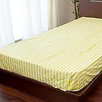 Westy ボックスシーツ セミダブル「Breeze ブリーズ」 綿100% 日本製 グリーン トロピカル リゾート 花柄 おしゃれ かわいい 120×200×25cm