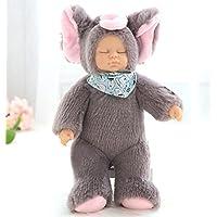 Cholvia リアル赤ちゃん人形 赤ちゃんお世話 Silicone Sleeping 人形 シリコーン抱き人形 女の子おもちゃ 誕生日ギフト (グレー)
