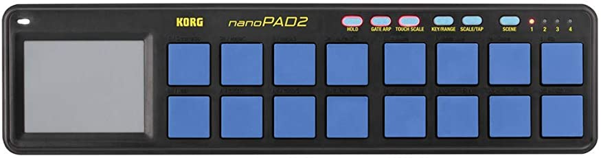 KORG USB MIDIコントローラー NANO PAD2 ブルー&イエロー
