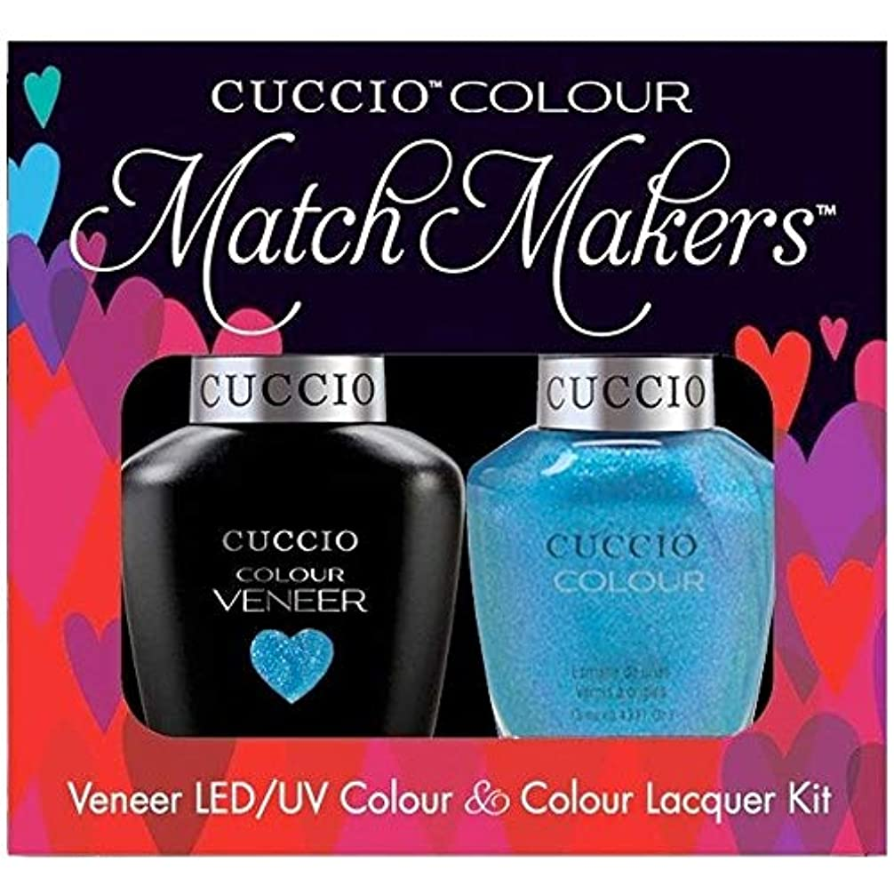 リラックス伝染性の所属Cuccio MatchMakers Veneer & Lacquer - Roller Skate! - 0.43oz / 13ml Each