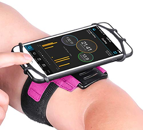 Newppon携帯ホルダーホルダー:鍵付きポケット付き、Apple iPhone用の180°回転可能X X X 8 7 6 6S Plus Galaxy S9 + S9 S8 S7 S6エッジノート8 Motorola HTC One、エクササイズトレーニング用ジョギングバイキング
