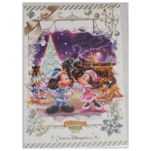 ポストカード ディズニー クリスマス ウィッシュ 2017 カラー・オブ・クリスマス 東京ディズニーシー限定 TDR TDS