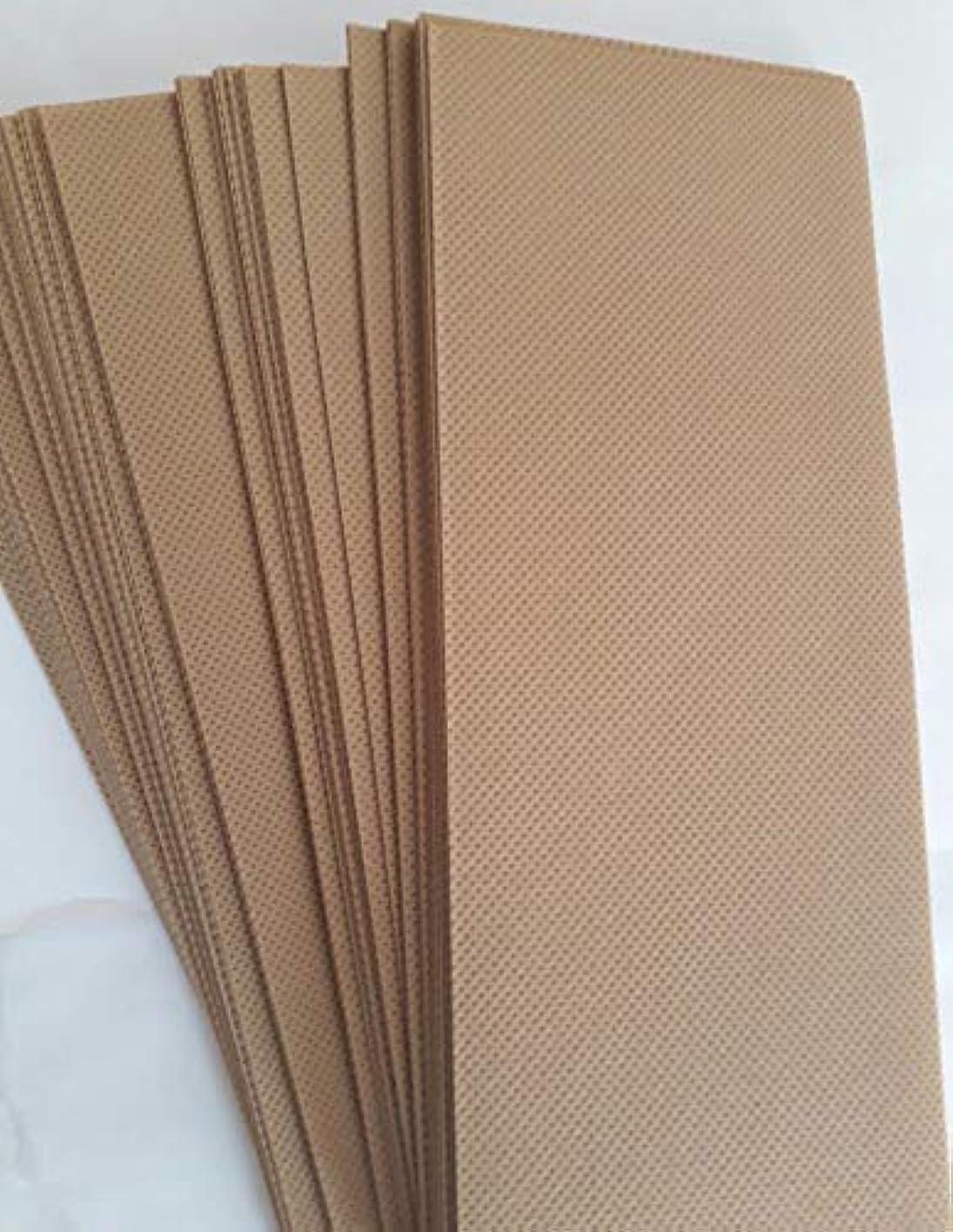 重要なふざけた退屈させる90 Wax Strips pieces Disposable Hair Removal Professional Wax Strip Epilator Paper Waxing Kits ワックスストリップ作品使い捨て...