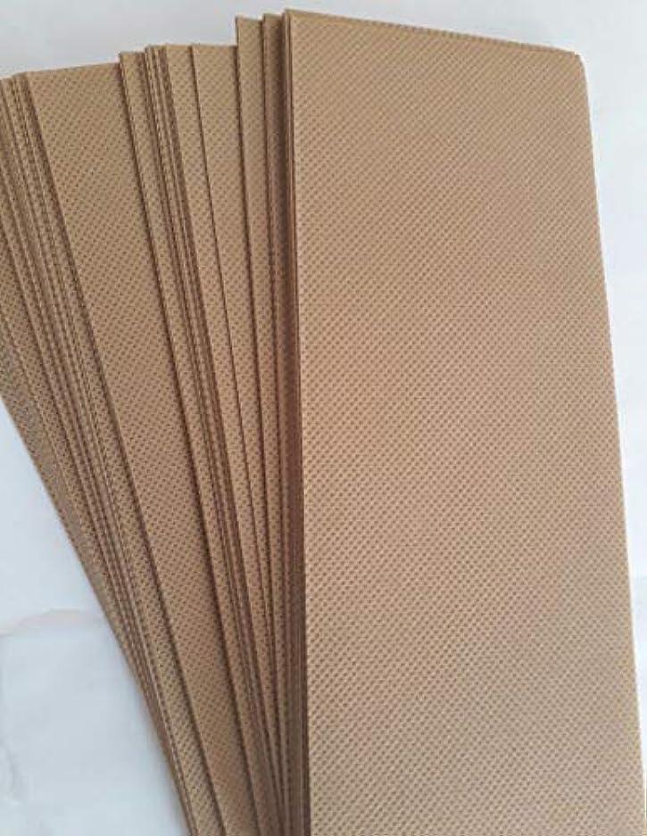 汗調和紳士気取りの、きざな90 Wax Strips pieces Disposable Hair Removal Professional Wax Strip Epilator Paper Waxing Kits ワックスストリップ作品使い捨て...