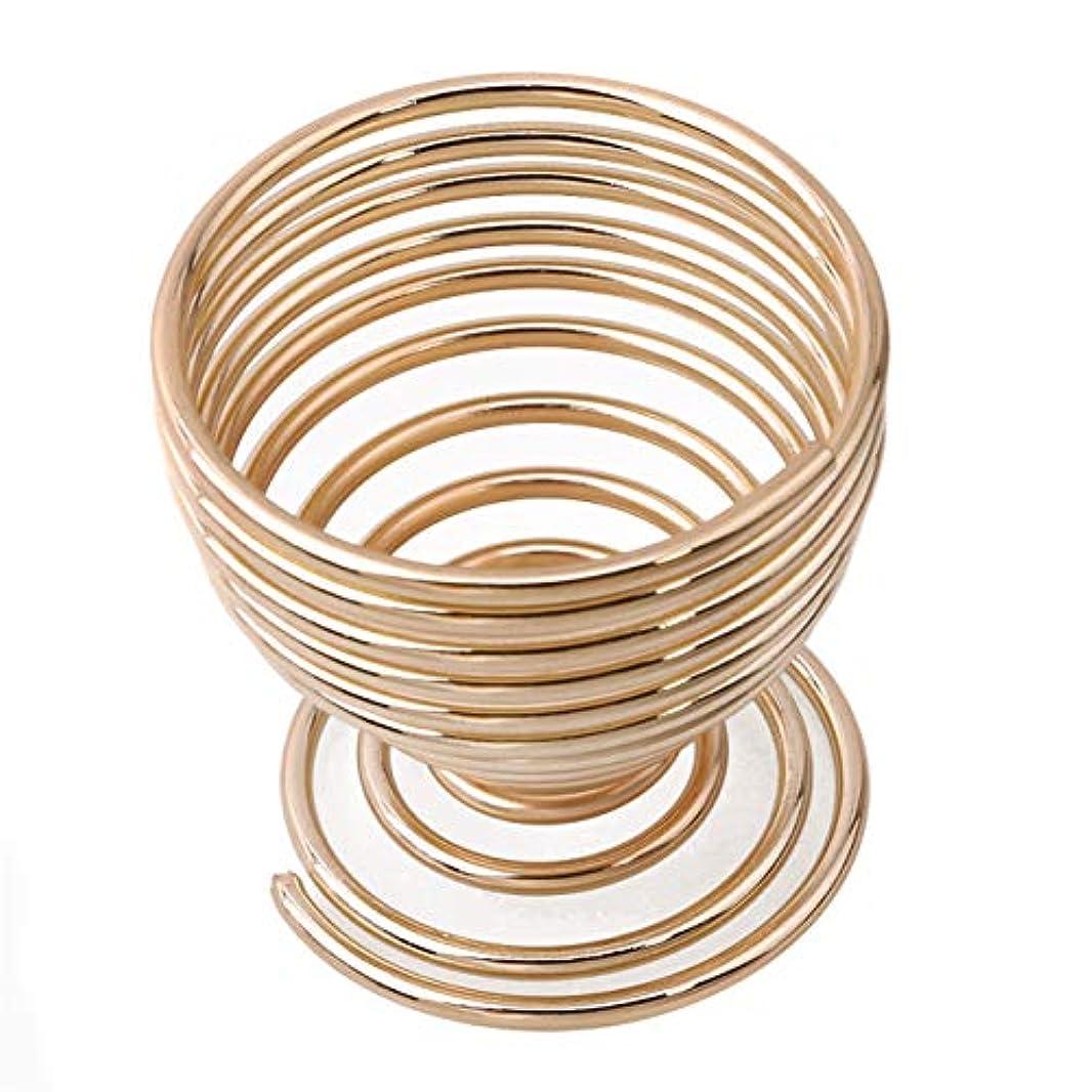 盆地接ぎ木いらいらさせるZALING ユニークな美容スポンジブレンダーホルダー卵パウダーパフディスプレイスタンド美容メイクスポンジドライヤー乾燥ラック, ゴールドカラーのラウンドベース