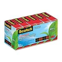 """Wholesale CASE of 10–3M Scotch透明環境に優しいテープ–テープ、環境に優しい、3/ 4"""" x900、"""" 6rolls / PK、クリア"""
