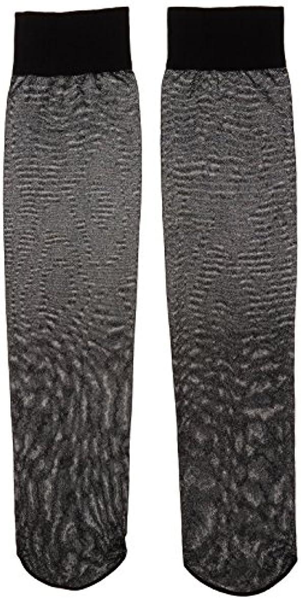 褐色第四優しさカロリーオフ 段階式着圧ハイソックス ブラック 22-25cm