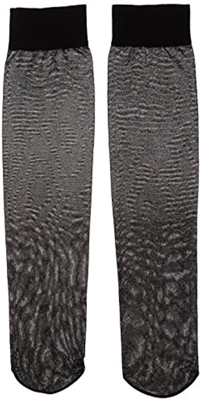 ギネス一般的な弁護カロリーオフ 段階式着圧ハイソックス ブラック 22-25cm