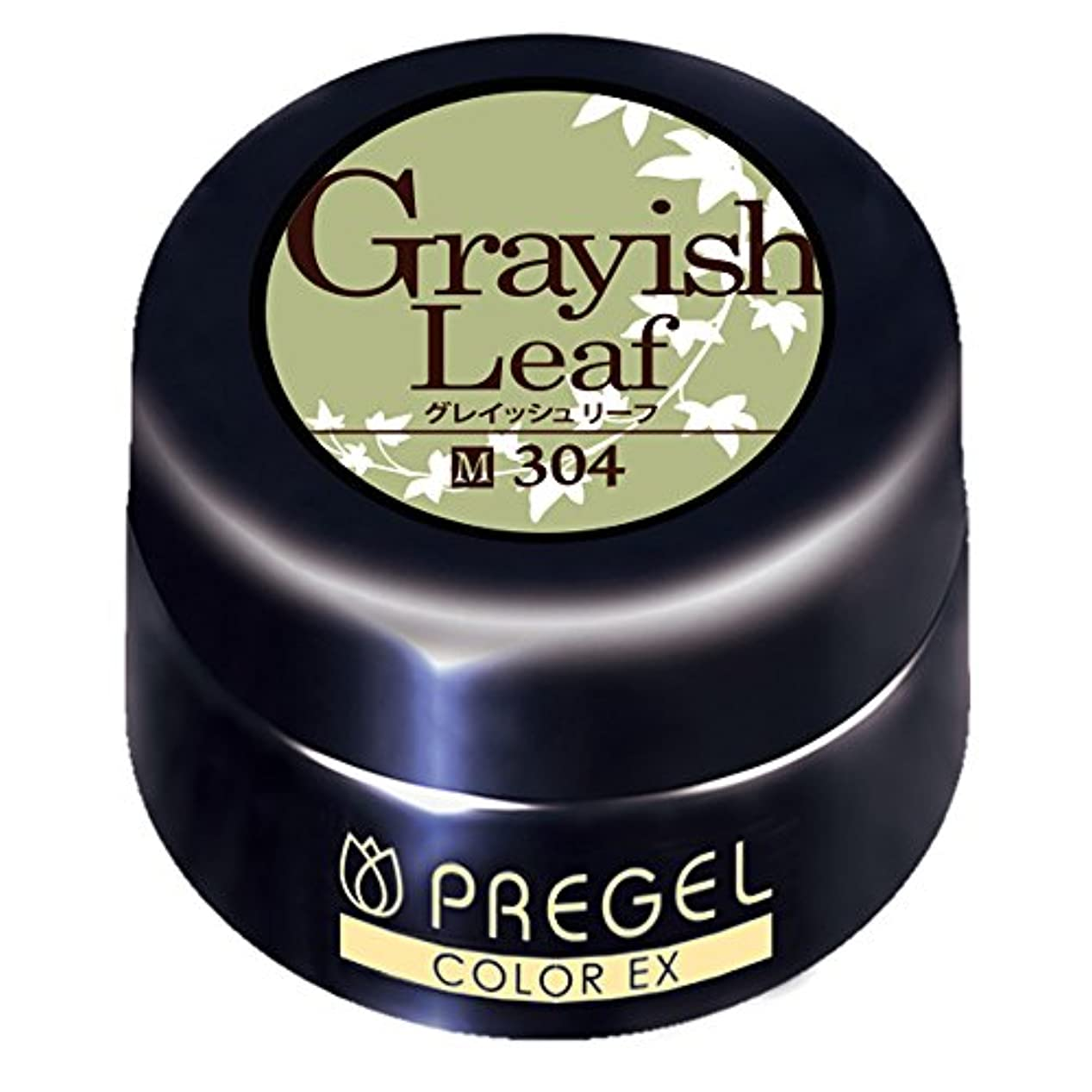 気味の悪い透明に顕現プリジェル ジェルネイル カラーEX グレイッシュリーフ 4g PG-CE304