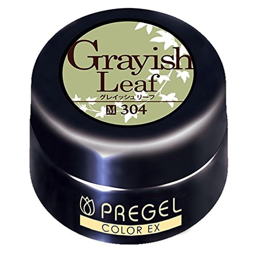 扇動一節改修するプリジェル ジェルネイル カラーEX グレイッシュリーフ 4g PG-CE304