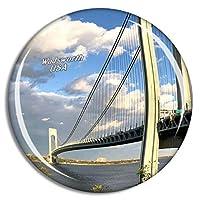 Weekino アメリカアメリカスタテン島フォートワズワース冷蔵庫マグネット3Dクリスタルガラス観光都市旅行お土産コレクションギフト強い冷蔵庫ステッカー