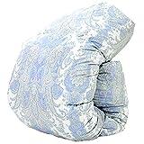 羽毛布団 西川 ダウン 85% 増量 1.3kg DP330 日本製 抗菌防臭 花粉フリー AI979 (シングル:150×210cm, ブルー)