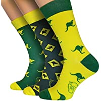 OZ SOCKS ™ Aussie Style Socks, 3 Pairs of, Extremely Original and Unique Australian Designed Socks,