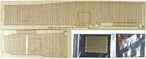 アートウォックスモデル 1/700 艦船用木製甲板 米海軍 空母 ホーネット用 エッチング付 PIT用 AW20134