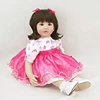 PursueベビーソフトタッチLifelikeベビーガールプリンセス人形、24インチ3 / 4ビニールソフトボディリアルなWeighted Toddler Doll With Matching Outfits
