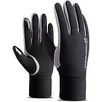 冬アウトドアスポーツランニンググローブ防風ブラックタッチスクリーンRidingオートバイの運転手袋暖かいスキー作業ミトンメンズとレディース X-Large ブラック NE-HYL315Black(XL)