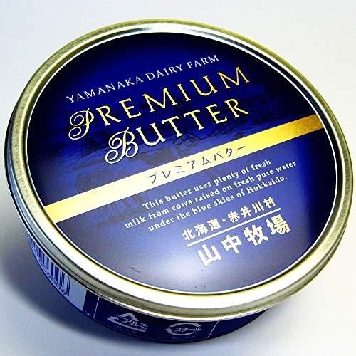 山中牧場 プレミアムバター 有塩 (青缶) 200g 1缶