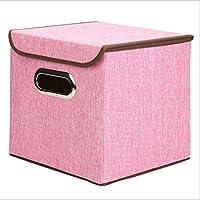 折りたたみコットンリネン生地収納箱クローゼットキューブビンオーガナイザー子供のおもちゃ収納ボックスオフィス用ホーム収納組織