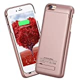 iSHAKO iPhone6S Plus/6 Plus 5.5インチ 4000mAh バックアップバッテリー 内蔵ケース (ローズゴールド)