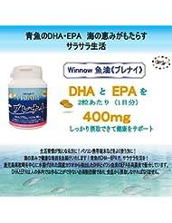 Winnow魚油<ブレナイ> オメガ3脂肪酸 Omega3 Fish oil 日本産高濃度DHA、EPA / 120粒入り