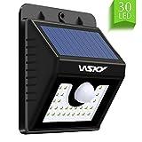Wsky 30 LED ソーラーライト 3つモード センサーライト 人感センサー 太陽発電 省エネ 夜間自動点灯 屋外照明/軒先/駐車場/庭先/玄関周りなど対応 防犯ライト (改良版) …