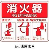 消火器具標識 消火器使用法 使用法A