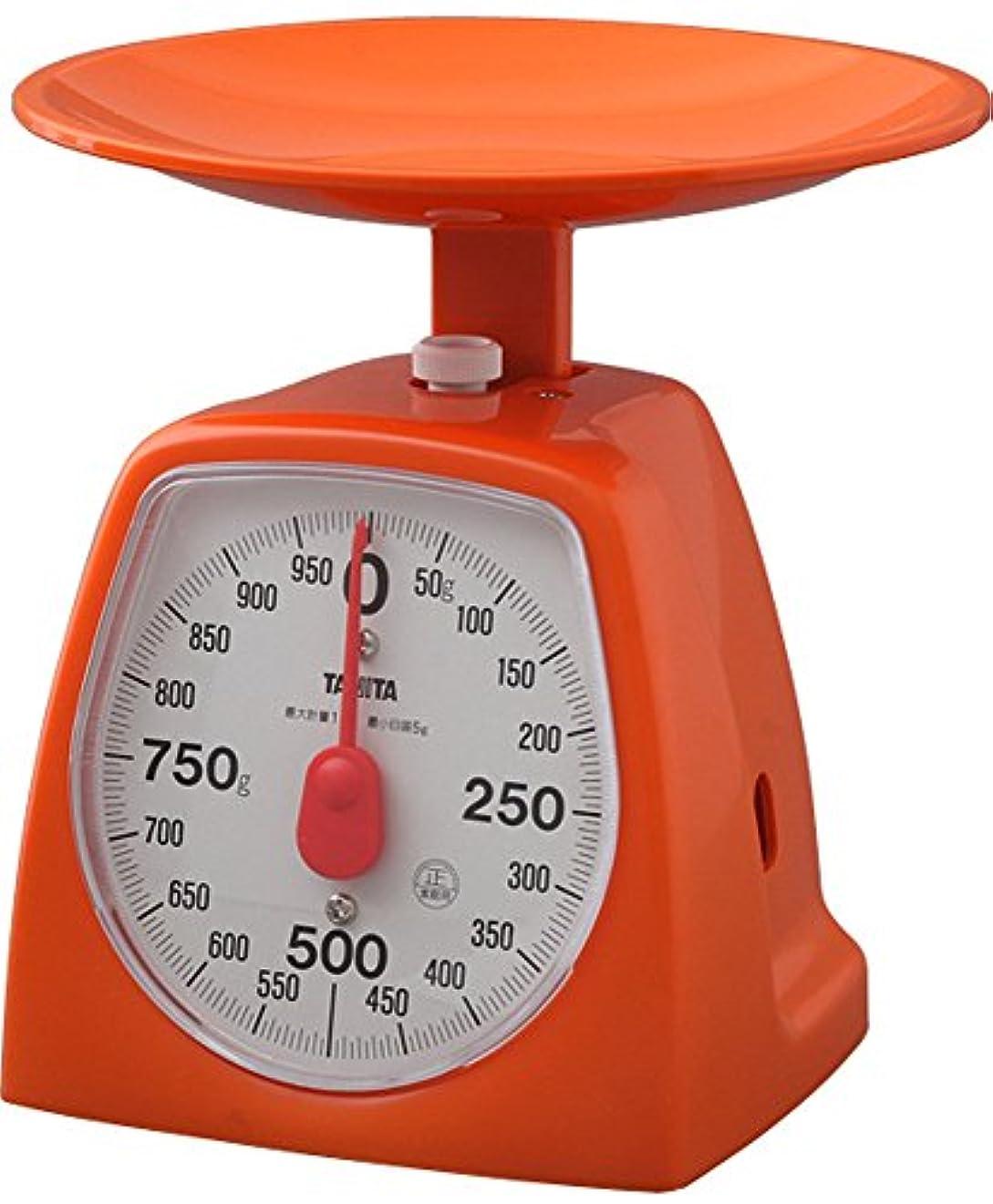 絶妙説教するジャーナルタニタ キッチンスケール はかり 料理  アナログ 1kg 5g単位 オレンジ 1439-OR