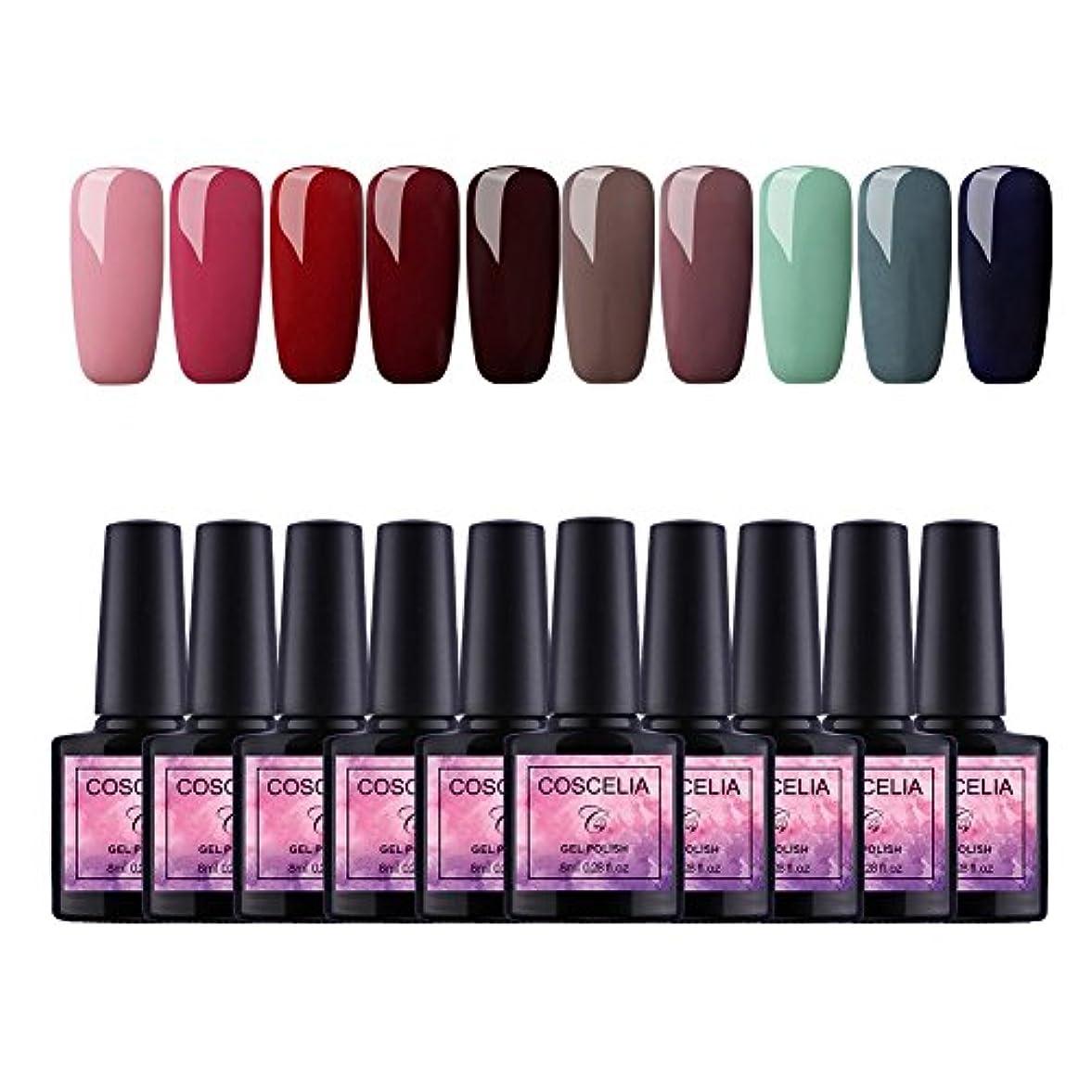 Twinkle Store 10色套装 8 ml カラージェル  ジェルネイルカラー UV/LED 适用 ネイルアートジェルで簡単に DIY