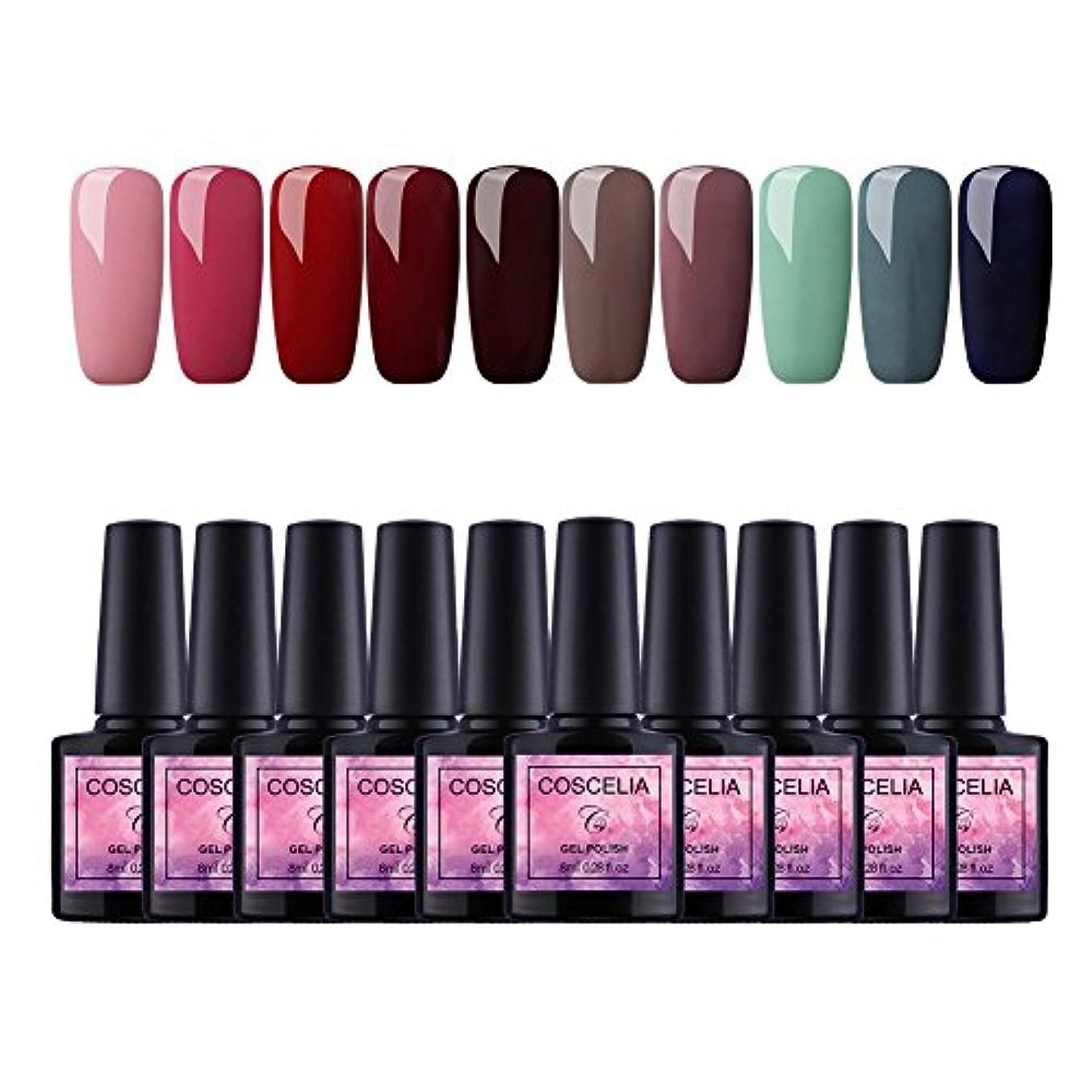 有彩色の不測の事態確かめるTwinkle Store 10色套装 8 ml カラージェル  ジェルネイルカラー UV/LED 适用 ネイルアートジェルで簡単に DIY