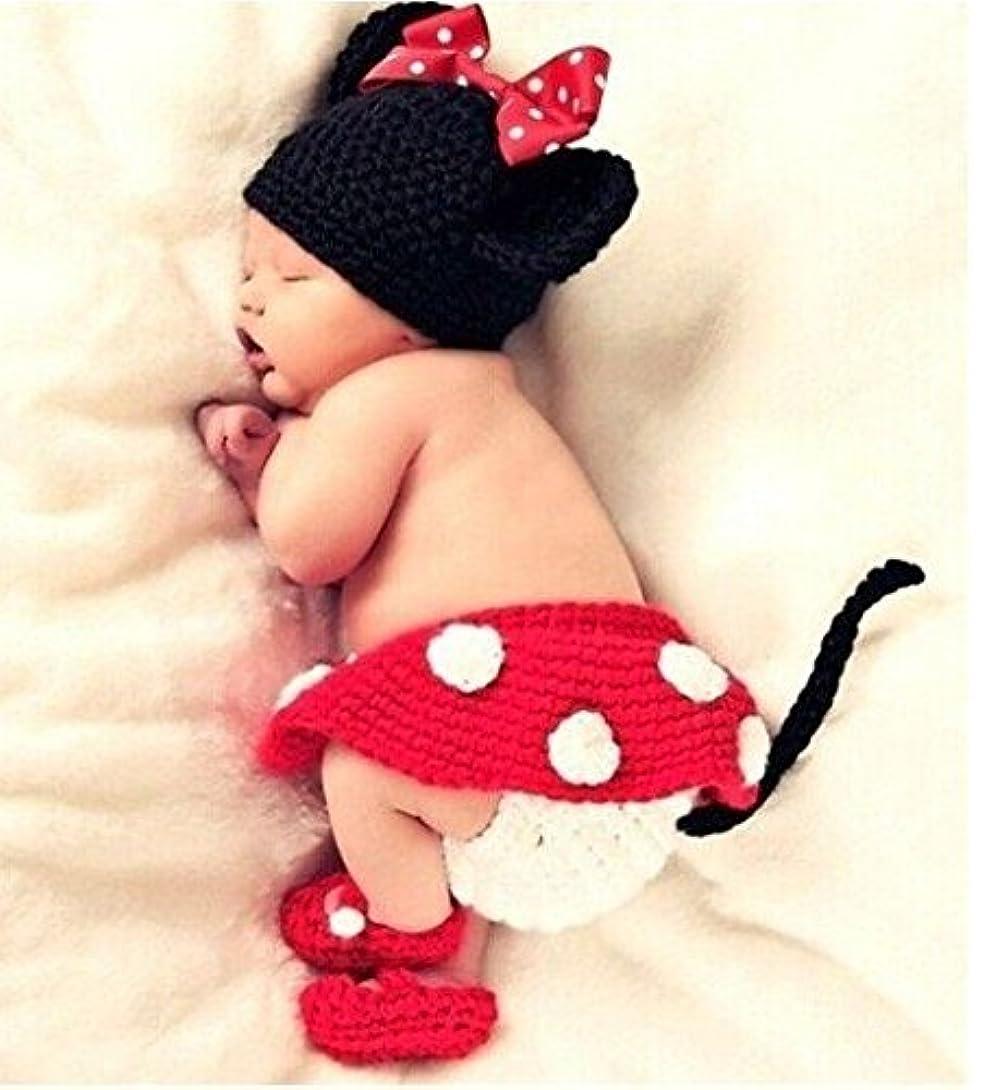 VIEAURA (ヴィオラ)ミニー風 コスチューム ハンドメイド 寝相アート ベビー服 着ぐるみ 新生児 赤ちゃん 出産 祝い