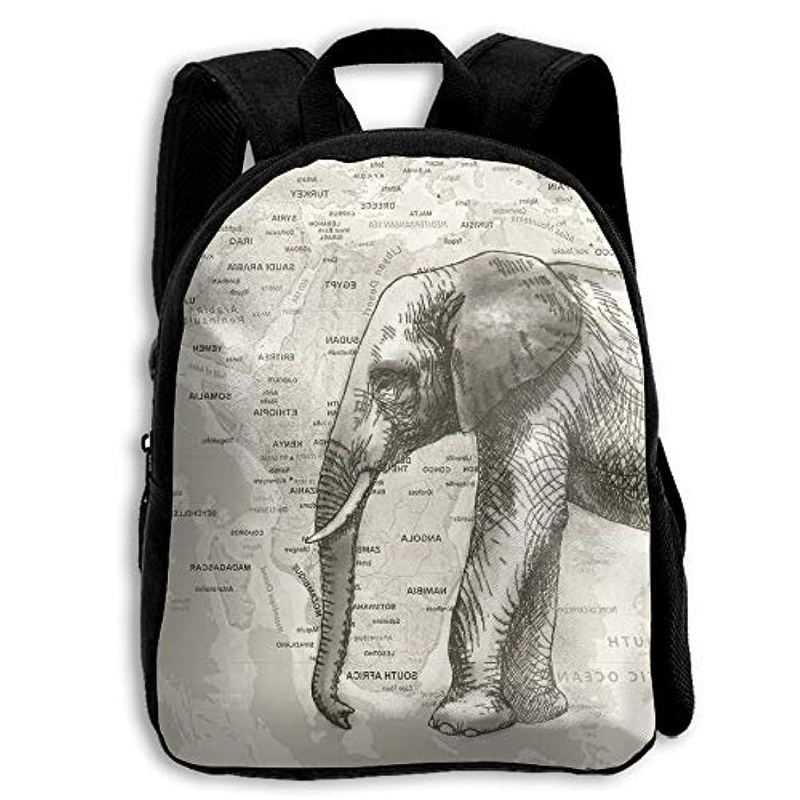 十分ですスパーク十分ではないキッズ リュックサック バックパック キッズバッグ 子供用のバッグ キッズリュック 学生 動物柄 象 エレファント マップ アウトドア 通学 ハイキング 遠足