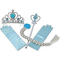 お姫様 プリンセス ティアラ ステッキ 三つ編み つけ毛 手袋 アクセサリー 4点 セット