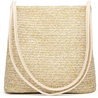 HaloVa Women's Handbag, Fashion Beautiful Straw Woven Tote, Large Summer Beach Shoulder Bag