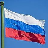 【ノーブランド品】ロシア国旗 ロシアフラグ 吊り下げ用の大きなロシア国旗ロシアバナー 150 * 90センチメートル