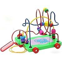 ルーピング チャンピオン カラフル 木のおもちゃ 知育玩具 誕生日の贈り物 ビーズコースター
