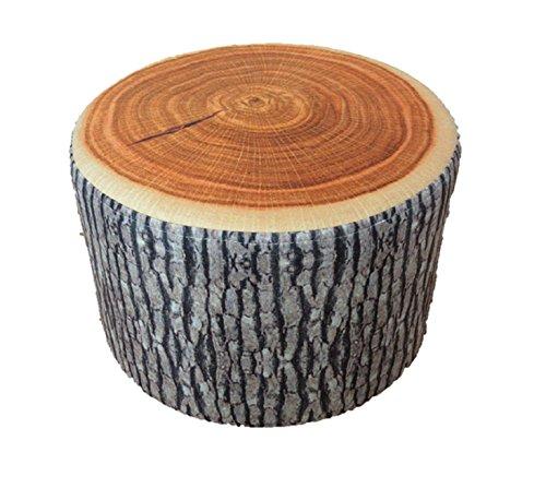 インテリア として最適 リアル 樹木 切り株 クッション 丸太 輪切り 座布団 (厚 20cm 椅子型)
