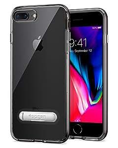 【Spigen】 スマホケース iPhone8 Plus ケース / iPhone7 Plus ケース 対応 バンパー ケース 二重構造 スタンド機能 クリスタル・ハイブリッド 043CS20508 (ガンメタル)