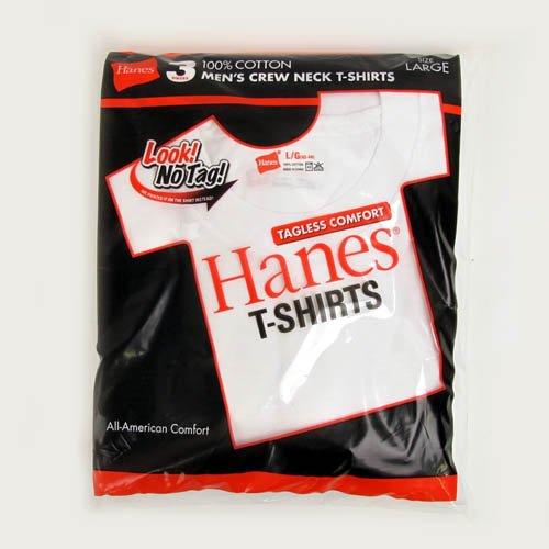 Hanes ヘインズ レッドパック Tシャツ 白無地 3枚組 クルーネック Sサイズ