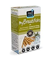 Grecian Living myBreadsticks: Gluten Free Breadsticks w Granulated Salt & Rosemary, Non GMO, No Sugar Added, Extra Virgin Olive Oil, High in Fibre 12 count, 120 grams (4.23 oz)