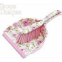 『お掃除が楽しくなる?』【ローズデザイン?ブルーム&ダストパンセット?】かわいい'薔薇'デザインの'ほうき'&'ちりとり'の2点セットです!