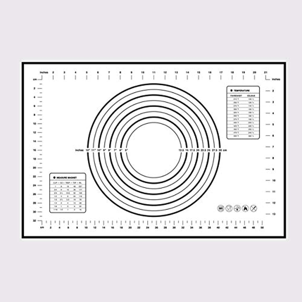教え設計とSaikogoods シリコンベーキングマットピザ生地メーカーペストリーキッチンガジェットクッキングツール食器耐熱皿混練アクセサリー