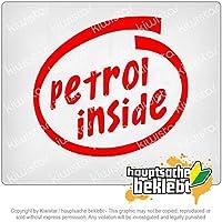 車内のガソリン Petrol inside car 11cm x 10cm 15色 - ネオン+クロム! ステッカービニールオートバイ